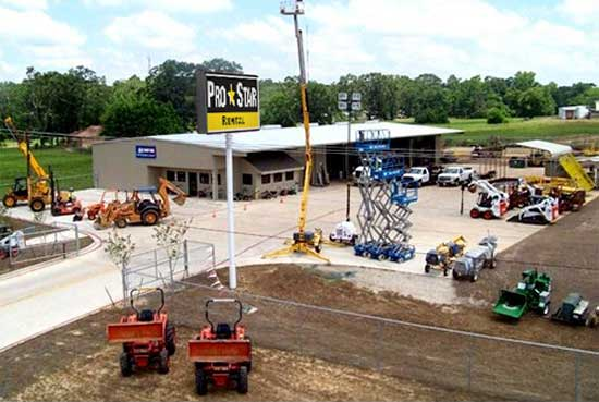 Texas Equipment Rental, Pro Star Rentals Locations in East Texas